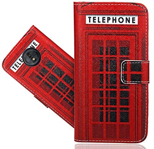 Motorola Moto G6 Play Coque, FoneExpert® Etui Housse Coque en Cuir Portefeuille Wallet Case Cover Pour Motorola Moto G6 Play