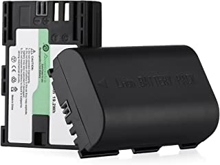 Powerextra 2 Baterías Canon LP-E6 LP-E6N Batería Canon EOS 80D 6D 7D 70D 60D 5D Mark III 5D Mark II BG-E14 BG-E11 BG-E9 BG-E7 LC-E6 BG-E6