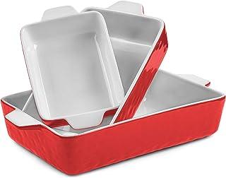 Krokori Baking Dishes, Ceramic Baking Pans Lasagna Pans Bakeware Set Baking Tray Set for Cooking, Lasagna, Kitchen, Dinne...