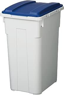 新輝合成 トンボ 連結 カラー フタ付 分別 ペール 45L つながる ゴミ箱 ブルー