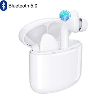 Bluetooth Wireless Earbuds 5.0 Magnetic Earphones Lightweight Ear Buds Mic Stereo in-Ear Headphones Sports Headset IPX7 Waterproof Hi-Fi Sound Charging Case Compatible Android, Samsung, iPhone, iOS