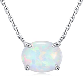 Best silver and opal necklace Reviews