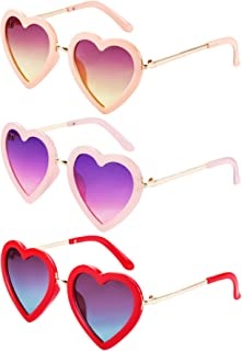 Kids Heart Shaped Sunglasses for Toddler Girls