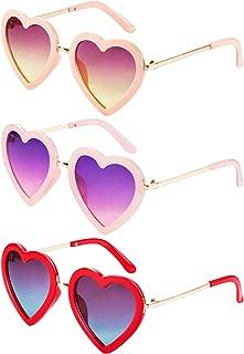 Kids Heart Shaped Sunglasses for Toddler Girls