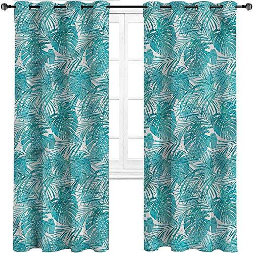 Cortinas opacas UNOSEKS LANZON Paisley, diseño de follaje bordado de colores cálidos para ventana de baño y armario, poliéster y mezcla de poliéster, Multi 11, W305 cm x L214 cm