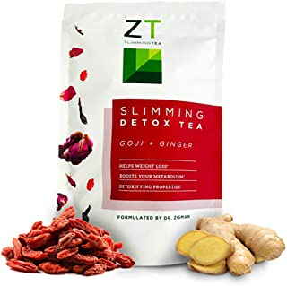 Dr. Zisman ZT Slimming Tea | Goji-Ginger Detox Blend | Weight Loss Tea | Organic Herbal Tea for Cleanse | Accelerate Your Metabolism Naturally | Lose Weight with a Healthier Digestion (Loose Leaf)