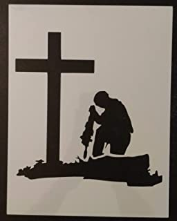 OutletBestSelling Reusable Sturdy Military Soldier Kneeling at Cross 11
