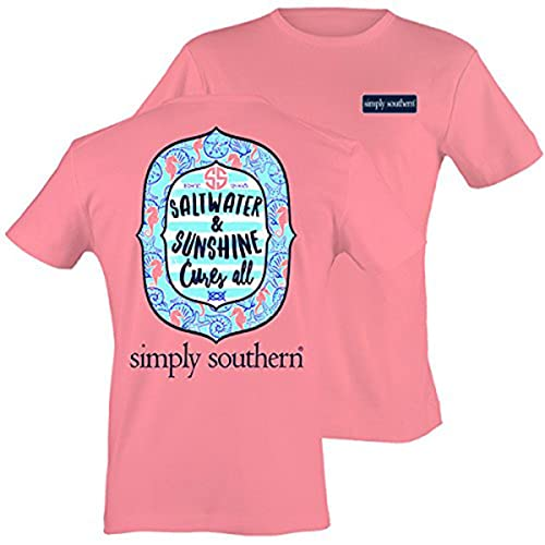 b05d01f6b Simply Southern Women's Preppy Sunshine Party Pink Tee