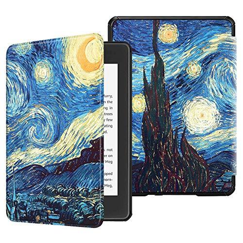 Capa para Kindle Paperwhite (aparelho à prova d`água) - rígida - sistema de hibernação - Noite Estrelada (van gogh)