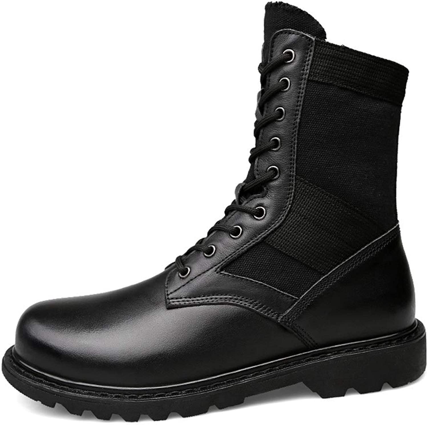 Men's shoes Men's Boots, Fall Men's shoes Men's British Outdoor Boots Tooling Martin Boots Men's Combat Boots Men's Fashion Boots (color   A, Size   40)