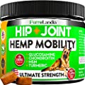 FurroLandia Hemp Hip & Joint Supplement for Dogs - 170 Soft Chews - Glucosamine, Chondroitin for Dogs - MSM - Turmeric - Hemp Seed Oil - Inflammation, Arthritis Pain Relief & Mobility Made in USA