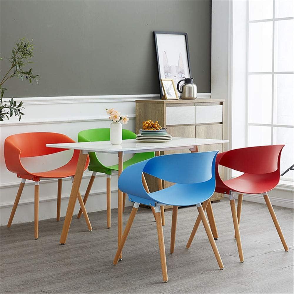 SSZZ Chaise Moderne Minimaliste, Réunion Casual Creative Réception Table Et Chaise, Président Non-Slip Durable,Blanc Blue