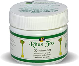 Rhus Tox Ointment for Pain Relief 40gm All-Natural Anti Inflammatory Cream Effective Arthritis Pain Relief Helps Back & Joint Pain, Elbow & Shoulder Soreness, Works for Sciatica & Muscle Strains Too