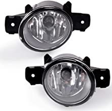 Fit For 04-15 Nissan Sentra / 07-up Nissan Maxima Altima Sedan / 08-16 Rogue / 08-10 Infiniti M35/ M45 / 10-11 G37 Clear Glass Lens Fog Lights With H11 12V 55W Halogen Lamp