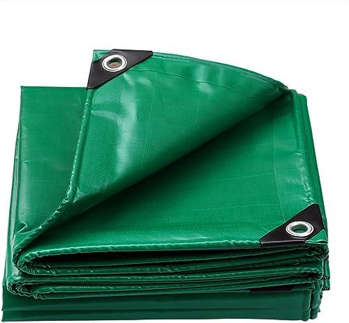 JINSH Toile imperméable épaisse, bache imperméable épaisse, Parasol isolé, bache, Anti-poussière, auvent Coupe-Vent, Anti-oxydation (Couleur   vert, Taille   2x3M)