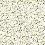 Pequeñas flores amarillas Papel pintado adhesivo PVC autoadhesivo Papel tapiz diseño impermeable para decoración de habitaciones