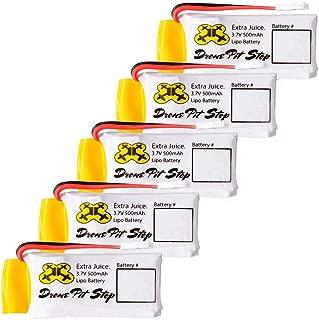 5pcs 3.7V 500mAh Upgrade LiPo Battery For Hubsan X4 H107L H107C H107D H107P H108 - Extra Flight Time - (Walkera Super CP, V252, JXD385, UDI U816A, JJRC H6C, Mini CP, Genius CP, Holy Stone F180C)
