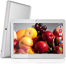 """$89 Get 10.1"""" Inch Android 8.1 Tablet PC,3G Unlocked Phablet 4GB RAM 64GB Storage with Dual sim Card Slots and Cameras,Tablet PC with WiFi,Bluetooth,GPS(Metallic Silver)"""