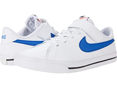 Nike Kids Court Legacy (Little Kid) (White/Game Royal/Black) Kid
