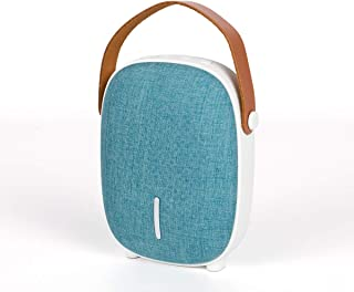Bluetooth Speakers Portable Wireless IPX4 Waterproof Haobell Mini Speakers Loud Bass Stereo Hands Free Call Radio, Home Outdoor,Fabric (Cyan)