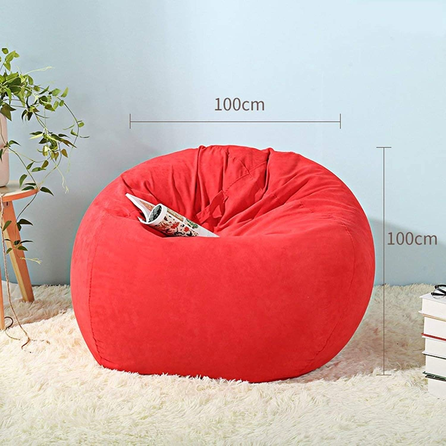 QTQZ Brisk- Bean Bag Lazy Sofa Cute Creative Removable Washable Soft Stool Single Room with Bay Window Sofa Stool (color Optional) (color  C-100cm)