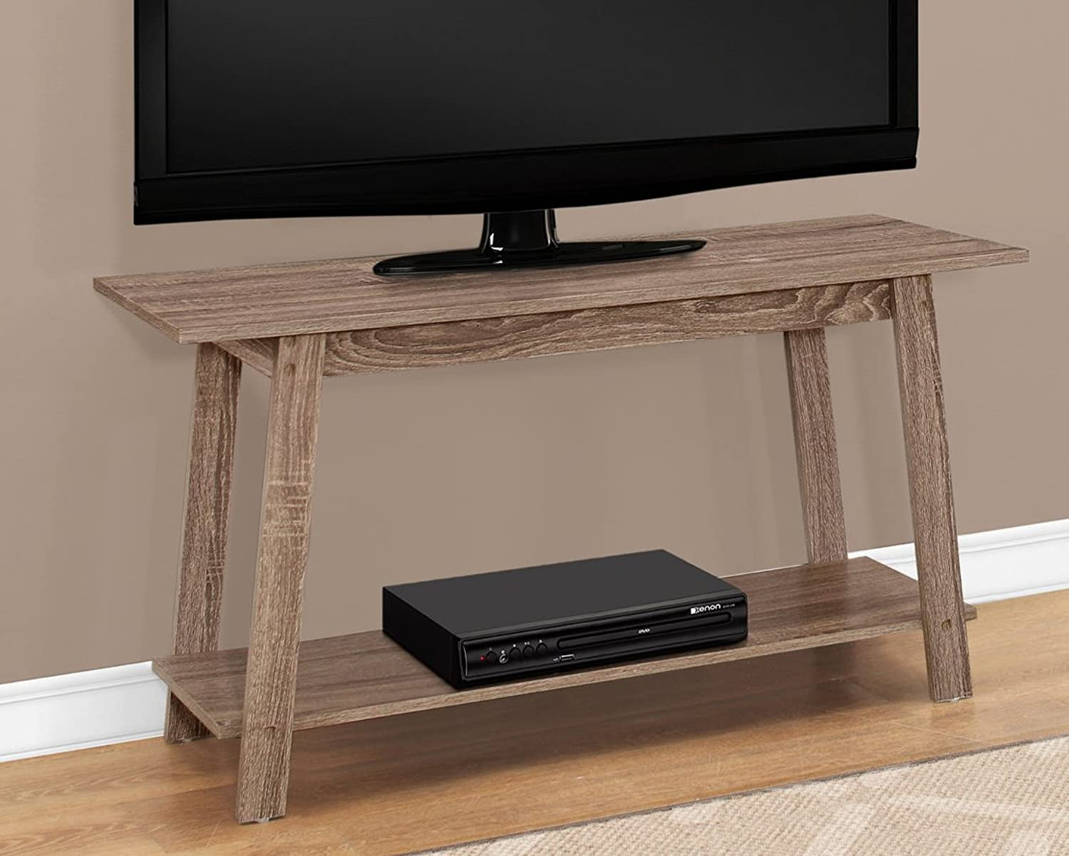 Monarch Specialties Tv Stand - 42  L Cappuccino, Brown