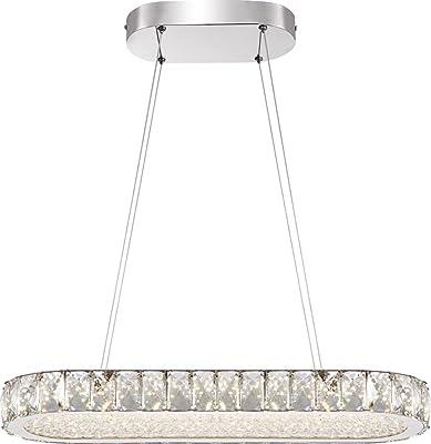 36W Kristall Deckenlampe LED Hängeleuchte Pendelleuchte Lüster Kronleuchter Warm