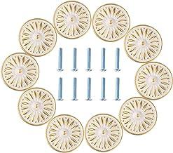 DealMux Kast Knop, 33mm dressoir kast kast lade knoppen garderobe deur trekgreep voor thuiskantoor (10 stuks, ivoor wit)