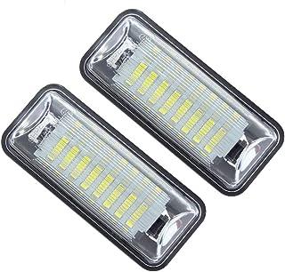 MOLEAQI Reemplazo de luz de Placa de matrícula LED Blanca de 2 Piezas para S-ubaru Forester Impreza Legacy BRZ WRX XV Cros...