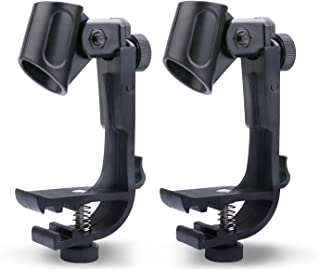Adjustable Microphone Clip for Snare Drum, Snare Rim Mount Clamp Holder Gear Studio 2Pcs