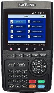 SATLINK WS-6916 HD Satellite Signal Finder Meter, DVB-S/S2 Digital Directv Dish Network Satellite TV Finder with MPEG-2/MPEG-4, , Black