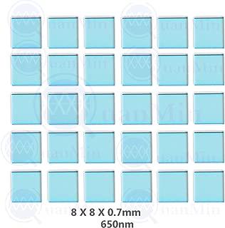 Quanmin 30pcs/1 Lot 8mm×8mm×0.7mm 650nm IR-Cut Blocking Filter Square Optical Multi-coating Color Low-Pass IR Filters For Camera Sensor