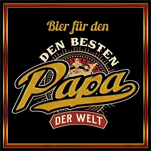RAHMENLOS 3 St. Aufkleber Original Design: Selbstklebendes Flaschen-Etikett für den Vater: Bier für er Beste Papa der Welt