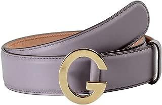 Gucci Unisex Light Purple Leather Buckle Decorated Leather Belt