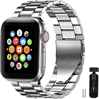 Innoo Tech Apple Watch Band Stainless Steel Metal Strap Upgraded Replacement Link for iWatch Apple Watch Series 6/5/4/3/2/...