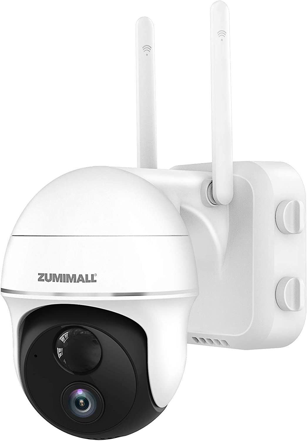 Security Camera Outdoor Wireless WiFi, Zumimall Pan Tilt Camera with 15000mAh Battery Powered for Home Surveillance, Motion Alert, 1080P Night Vision, 2-Way Audio, Waterproof, Encrypted Cloud/SD Slot