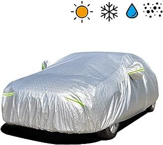 VISLONE Copriauto Telo Copriauto Impermeabile e Pieghevole Copriauto Protezione da Pioggia e Neve Resistente al Vento Anti UV Protezione Solare Telo Auto Aggiornato XXL: 533 * 178 * 120 cm