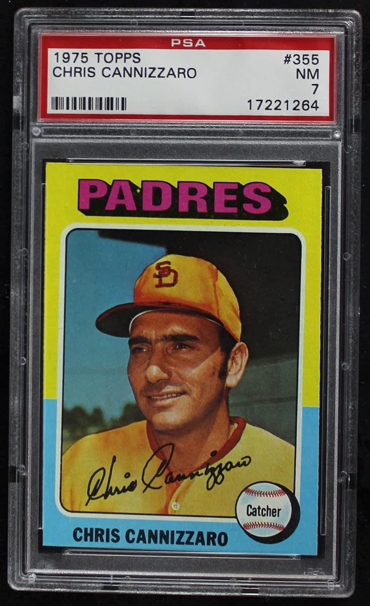 San Jose Mall 1975 Topps # 355 Chris Cannizzaro Car Baseball Padres Diego OFFicial shop
