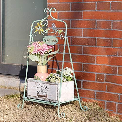 JCNFA Vintage Display-Regal Aus Metall, Vogel + Blume Schweißen, Hauptschaukasten- /...