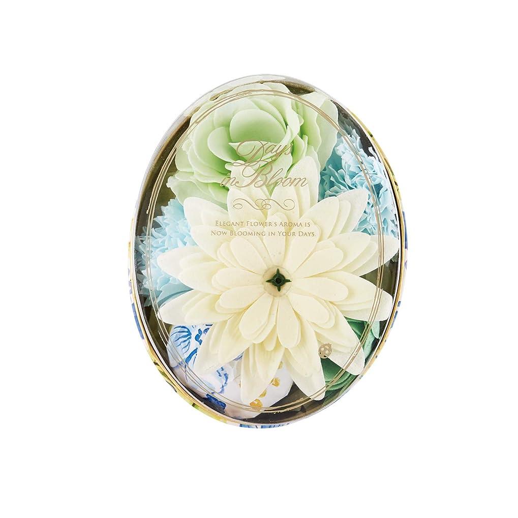 自動玉天デイズインブルーム バスセットオーバル ガーデニア (入浴料 お花の形のバスギフト)