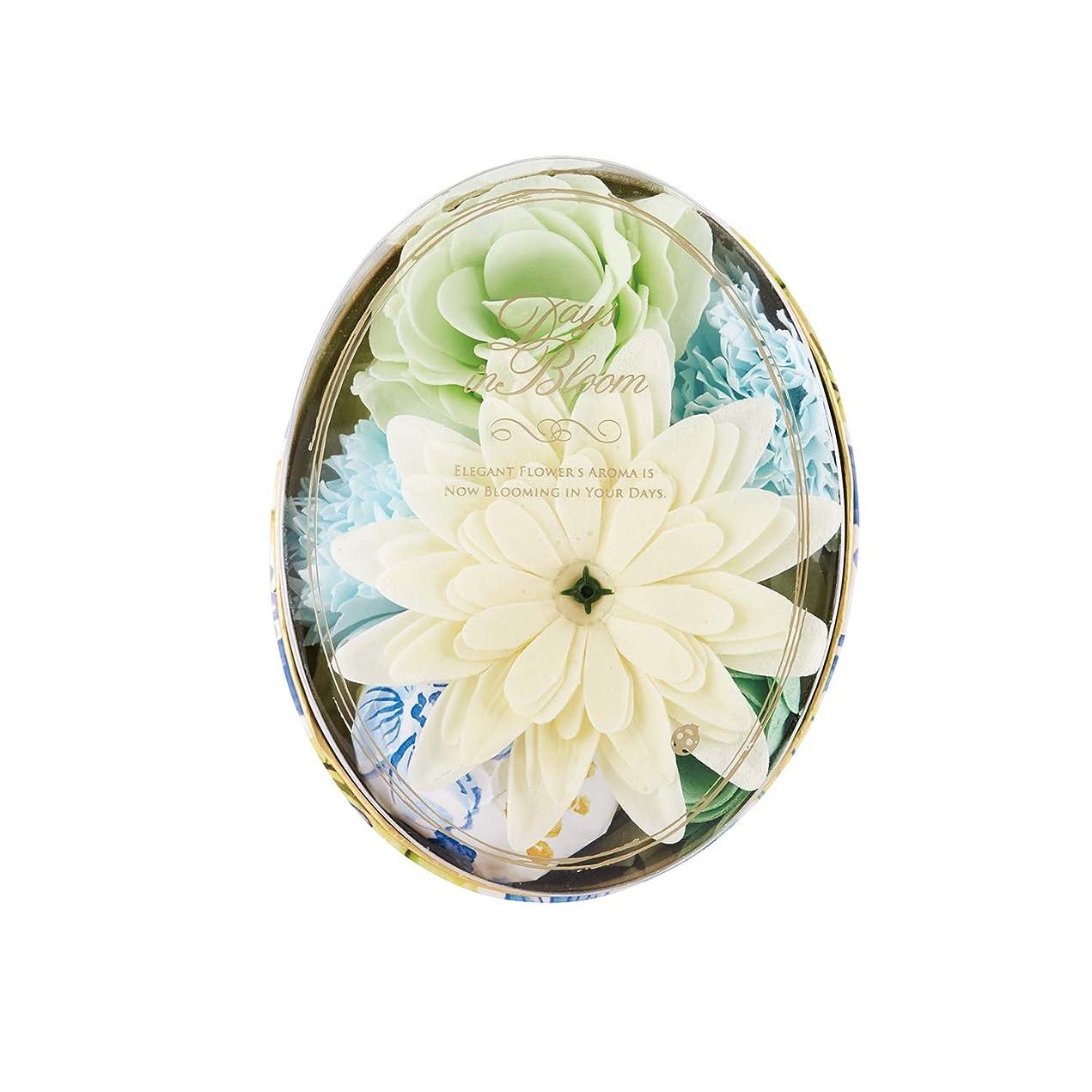 圧倒的署名軽減デイズインブルーム バスセットオーバル ガーデニア (入浴料 お花の形のバスギフト)