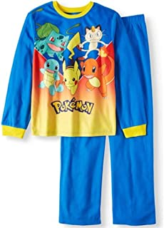 Pokemon Nintendo Characters 2 Piece Boys Sleepwear Pajama Set