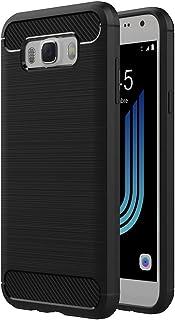 AICEK Funda Samsung Galaxy J5 2016, Samsung J5 2016 J510FN Funda Negro Gel de Silicona Galaxy J5 2016 Carcasa Fibra de Carbono Funda para Samsung J5 2016 5,2 Pulgadas