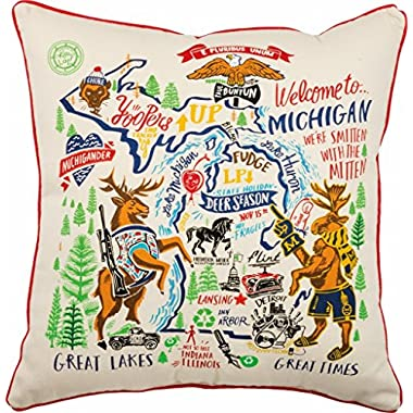 Primitives by Kathy Michigan State Art Pillow 20 x 20