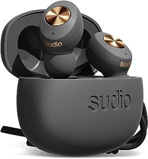 Sudio Tolv True Auriculares inalámbricos – Emparejamiento automático, estuche de carga compacto, 35 horas de tiempo de reproducción, iOS, Android (antracita)