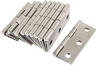 Onwon 10 Pcs Folding Butt Hinges Silver Tone Home Furniture Hardware Door Hinge