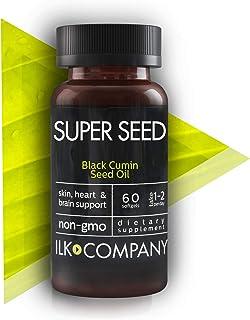 Pure Black Seed Oil Capsules - Super Antioxidant and Powerful Immune Support - Kalonji Oil - Nigella Sativa Black Cumin Seed
