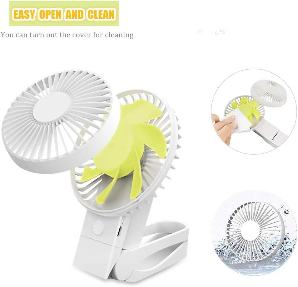 VSTYLE USB Clip Fan, 3 in-1 Portable USB Desk Fan 360° Rotation 4 Wind Speed Mini Cooling Fan Rechargeable Table Fans for Sport/Travel/Home