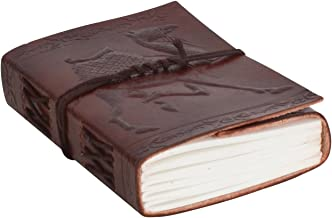 Gusti Cuero nature Libro de notas Formato B7 200 Páginas Diario de Viajes Cuaderno de Bocetos Libro de Recetas Colecciones Bloc de Notas P32b