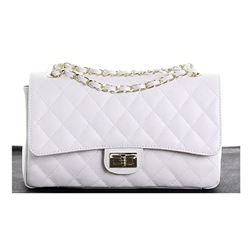 White Quilted Bags: Amazon.co.uk